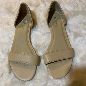 Talbots size 10 nude flats new never used